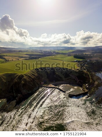 Berwickshire Coastal Path, view on the Cove Bay, Scotland, UK Stock photo © Julietphotography