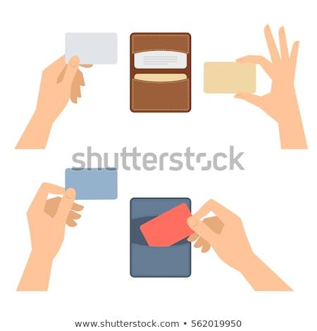 empresária · mãos · bolso · câmera · mulher - foto stock © Flareimage