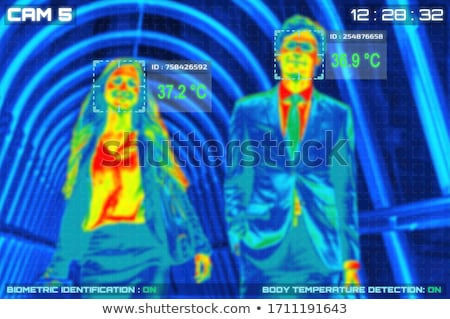 Infrarood rood licht icon vector afbeelding kan Stockfoto © Dxinerz