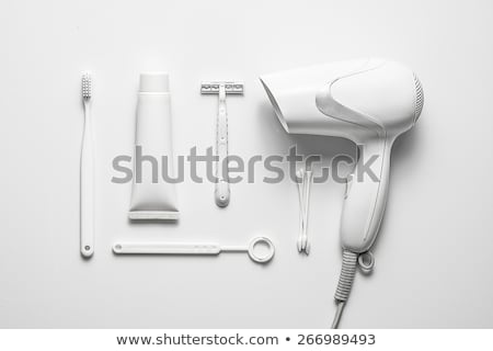 close up of a hair dryer on white background Stock photo © ozaiachin