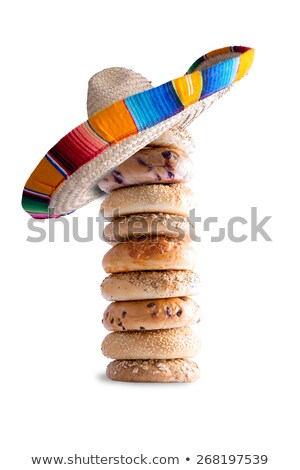 Piled Bagels with Mexican Hat on the Top Stock photo © ozgur