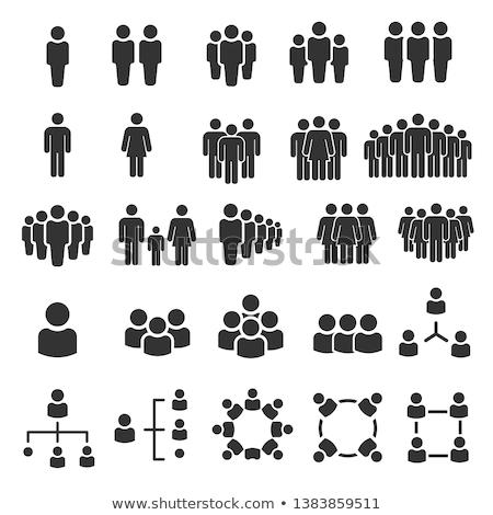 emberek · csapat · felhasználók · ikon · vektor · kép - stock fotó © Dxinerz