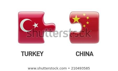 中国 トルコ フラグ パズル 孤立した 白 ストックフォト © Istanbul2009