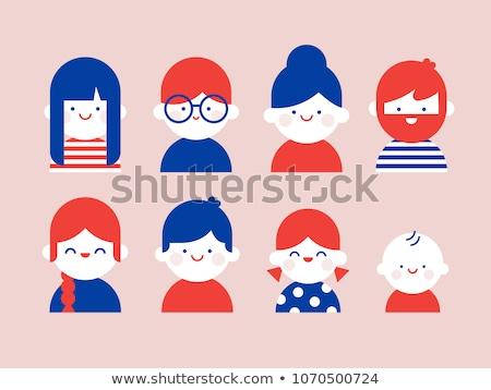 szett · gyerekek · fiúk · lányok · stílus · ikonok - stock fotó © vectorikart