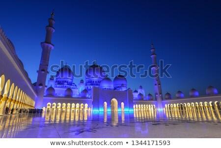 cami · mavi · gökyüzü · su · mavi · ibadet · mimari - stok fotoğraf © vwalakte