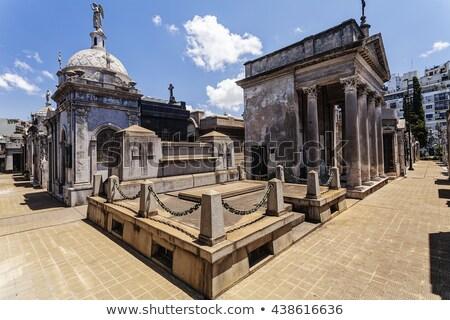 кладбище Буэнос-Айрес исторический крест городского туристических Сток-фото © fotoquique