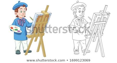 Conjunto jovem artista papel paleta crianças Foto stock © romvo