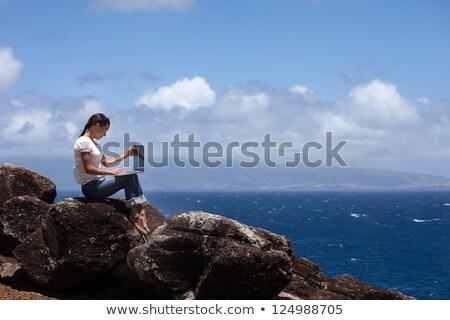 Woman on Maui beach. stock photo © iofoto