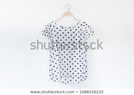 elegáns · tunika · fehér · modern · szürke · izolált - stock fotó © gsermek