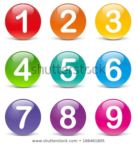 Sayılar mavi vektör düğme ikon dizayn Stok fotoğraf © rizwanali3d