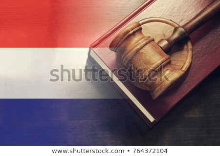 A gavel and a law book - Netherlands Stock photo © Zerbor