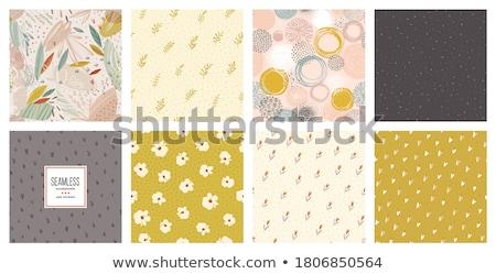 Doodle floral seamless card Stock photo © Elmiko