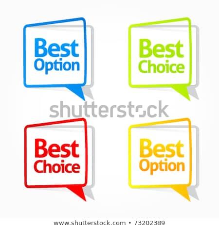 Legjobb választás kék cetlik vektor ikon terv Stock fotó © rizwanali3d
