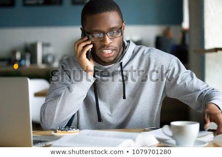 Knap zakenman telefoongesprek witte telefoon man Stockfoto © wavebreak_media