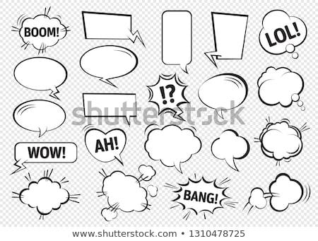 Set of dialog boxes on white background. Stock photo © Nobilior