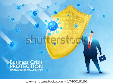 Biztonság csőd jelzőtábla üzlet háttér piros Stock fotó © fuzzbones0