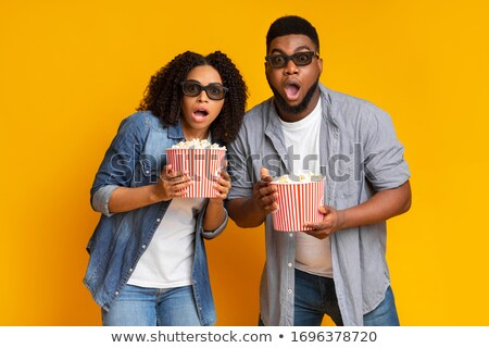 assistindo · horror · filme · cinema - foto stock © juniart