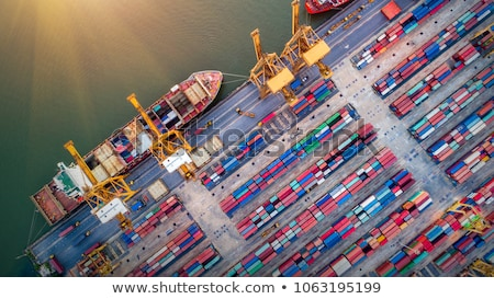 cargo ship unloading stock photo © joyr