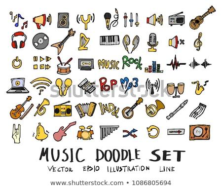 Stock fotó: Színes · kézzel · rajzolt · tánc · gyűjtemény · kitűnő · eps