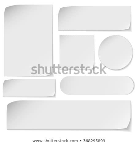 Szett fehér négyszögletes papír matricák promóciós Stock fotó © tassel78