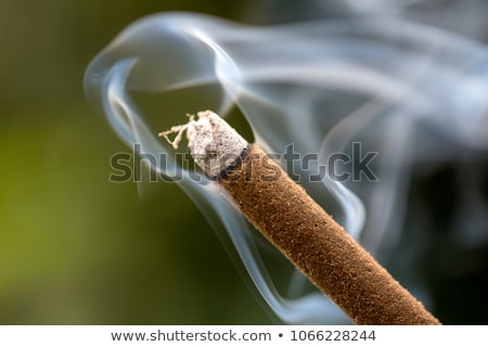 Closeup of an incense stick smoking Stock photo © devulderj