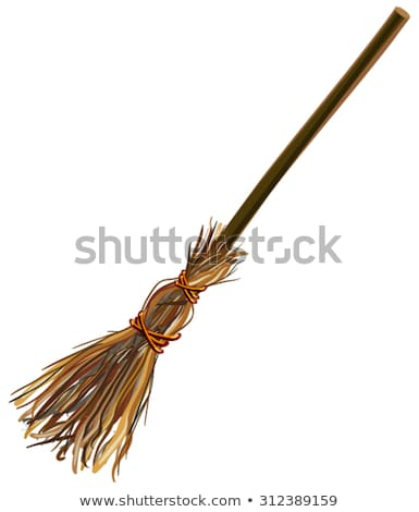 Witches broom stick. Old broom. Halloween accessory object stock photo © orensila
