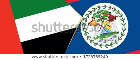 Egyesült Arab Emírségek Belize zászlók puzzle izolált fehér Stock fotó © Istanbul2009