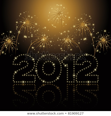 new year 2012 fireworks stock photo © irisangel