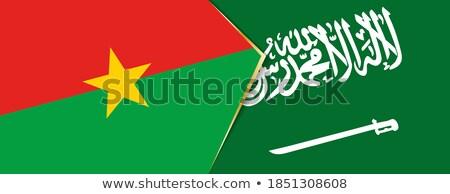 Saudi Arabia and Burkina Faso Flags Stock photo © Istanbul2009