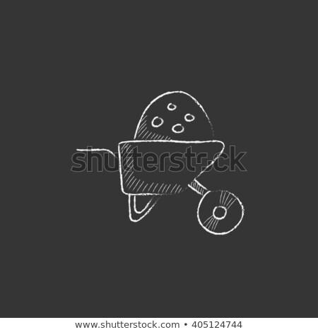 El arabası tok kum ikon tebeşir Stok fotoğraf © RAStudio