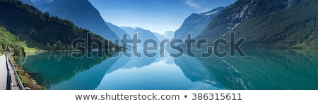 Scenico Norvegia verde valle panorama Foto d'archivio © Harlekino