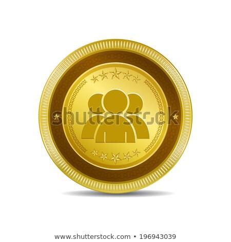 Kullanıcı vektör altın web simgesi düğme Stok fotoğraf © rizwanali3d