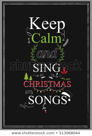 şarkı söylemek Noel şarkı mutlu arka plan Stok fotoğraf © pashabo