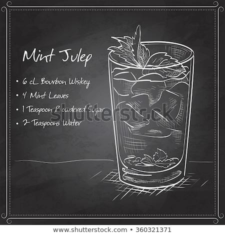 Cocktail derby gin Peach amer Photo stock © netkov1