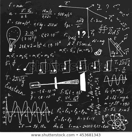 back to school handwritten by white chalk on a blackboard stock photo © tashatuvango