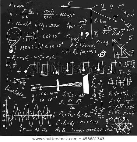 Back to School Handwritten by White Chalk on a Blackboard. Stock photo © tashatuvango