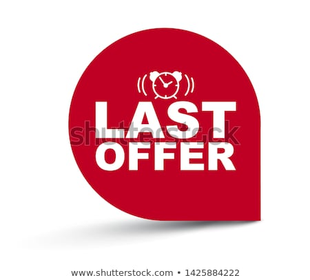 limited time offer yellow vector icon button stock photo © rizwanali3d