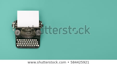 Old typewriter machine with paper top view Stock photo © stevanovicigor