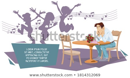 bored man in a party funny boring gesture stock photo © lunamarina
