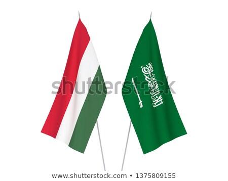 Szaúd-Arábia Magyarország zászlók puzzle izolált fehér Stock fotó © Istanbul2009