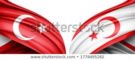 Turkey and Republic of Cyprus Flags  Stock photo © Istanbul2009