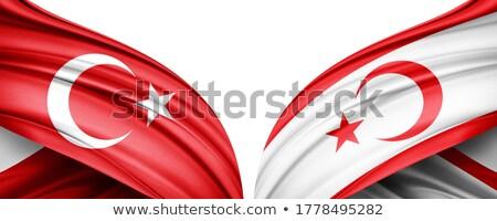Турция республика Кипр флагами головоломки изолированный Сток-фото © Istanbul2009