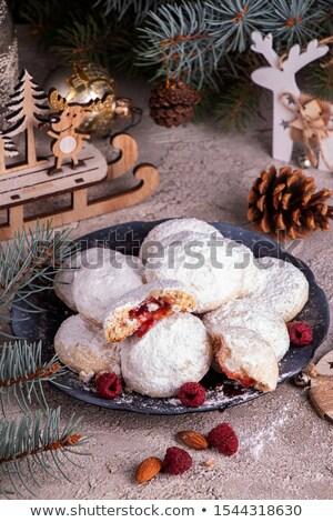 jam biscuit on snow stock photo © digifoodstock