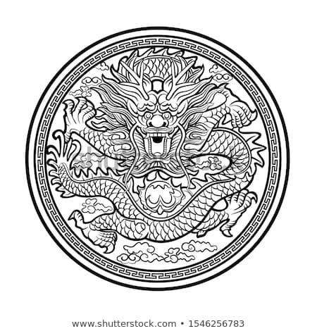 piros · sárkány · illusztráció · vicces · szimbólum · év - stock fotó © lenm