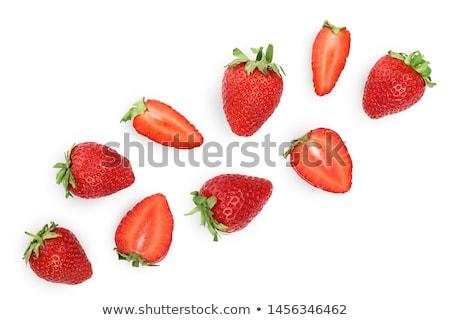 Groupe fraîches isolé fraises blanche alimentaire Photo stock © AntonRomanov