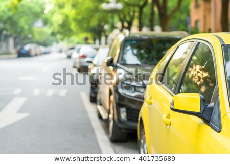 Rows of cars parked in residential district Stock photo © stevanovicigor