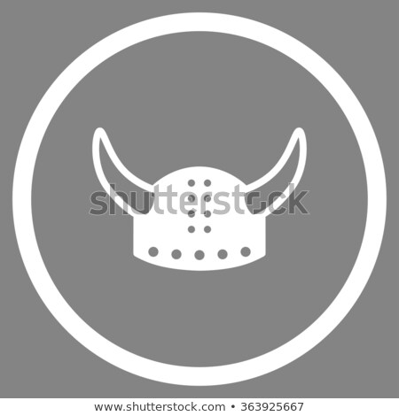 medieval knight with an axe on grey background stock photo © igor_shmel