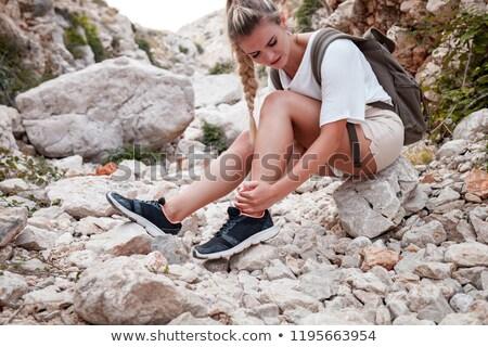 Kadın bacak hasar beyaz vücut ağrı Stok fotoğraf © wavebreak_media