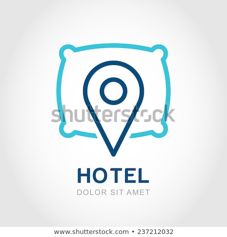 Map Pointer sleep Hotel icon Stock photo © kiddaikiddee