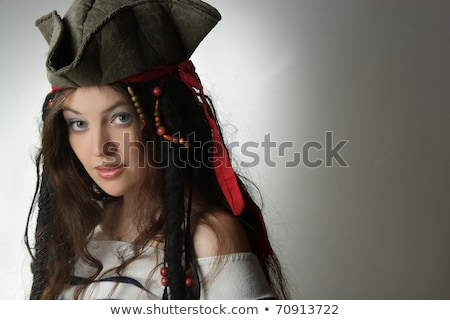 Young woman in pirate clothing Stock photo © Elnur